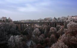 Pont Adolphe (passerelle d'Adolphe) Image libre de droits