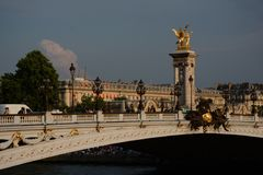 Pont Alejandro III Fotografía de archivo libre de regalías