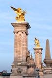 Pont Alejandro iii en París Imagen de archivo libre de regalías