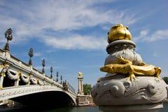 Pont Alejandro III, París imagen de archivo libre de regalías