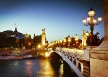 Pont Alejandro III, París Fotografía de archivo