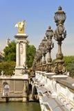 Pont Alejandro III, París - Francia Fotografía de archivo libre de regalías