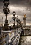 Pont Alejandro III - puente en París, Francia. Imagen de archivo libre de regalías