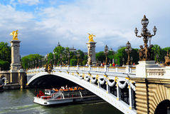Pont Alexander III fotografia stock libera da diritti