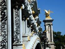 Pont Alexander III. Famous bridge in Paris: Pont Alexandre III Stock Image
