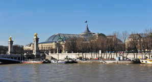 Pont Alexander III and the Grand Palais Stock Photography