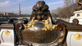 Pont Alexander III Parigi Frankrijk Stock Foto's
