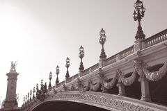 Pont Alexandre ΙΙΙ γέφυρα, Παρίσι, Ευρώπη Στοκ Φωτογραφίες