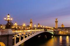 Pont Alexandre ΙΙΙ γέφυρα Στοκ Εικόνες