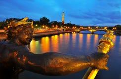 Pont Alexandre ΙΙΙ, Παρίσι Στοκ Εικόνα