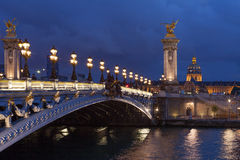 Pont Alexandre imagem de stock