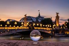 Pont Alexandre 3 e palais grandes Imagem de Stock Royalty Free