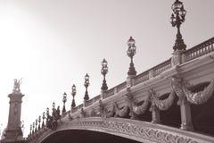 Pont Alexandre III桥梁,巴黎,欧洲 库存照片
