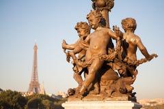 Pont Alexandre III,巴黎,法国 免版税图库摄影