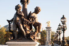 Pont Alexandre III,巴黎,法国 免版税库存图片