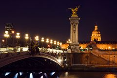 Pont Alexandre III Royalty Free Stock Photo