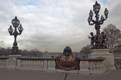 Pont Alexandre III Royalty Free Stock Images