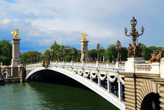 Pont Alexandre III Stock Images