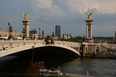 Pont Alexandre III Stock Foto