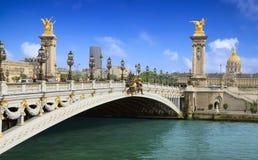 Pont Alexandre III Brücke in Paris Stockbild