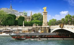 Pont Alexandre III Brücke in Paris Lizenzfreie Stockfotografie