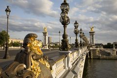 Pont Alexandre III Bridge. In Paris, France Stock Images