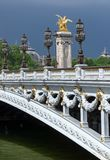 Pont Alexandre III bridge deck arch bridge royalty free stock image