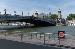 Pont Alexandre III bridge deck arch bridge royalty free stock photography