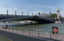 Pont Alexandre III bridge deck arch bridge stock photo