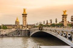 Pont Alexandre III Stock Photos