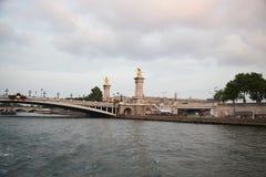 Pont alexandre III bridge over the river seine paris france Stock Photography