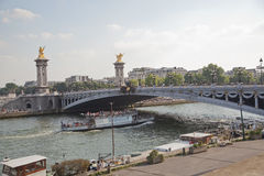 Pont alexandre III bridge over the river seine paris france Royalty Free Stock Image