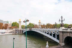 Pont Alexandre III - Bridge in Paris. Pont Alexandre III - Bridge over river Seine in Paris, France Royalty Free Stock Image