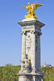 Pont Alexandre III bridge, Paris Royalty Free Stock Photos
