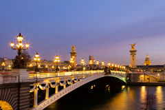 Pont Alexandre III Bridge Stock Images