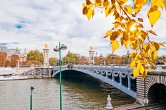 Pont Alexandre III - Bridge in Paris, France. Royalty Free Stock Photo