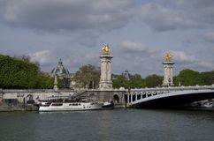 Pont Alexandre III bridge. Pont Alexandre III is largely regarded as the most beautiful bridge in the city Stock Images