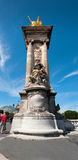 Pont Alexandre III Bridge Pylon Stock Photography