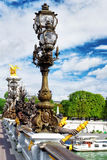 Pont Alexandre III bridge (1896) spanning the river Seine. Decor Royalty Free Stock Image