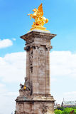 Pont Alexandre III bridge (1896) spanning the river Seine. Decor Stock Photography