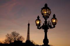 Pont Alexandre III Bridge With The Eiffel Tower Royalty Free Stock Photos