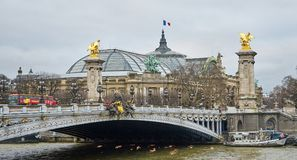 The Pont Alexandre III. Bridges of Paris. stock image