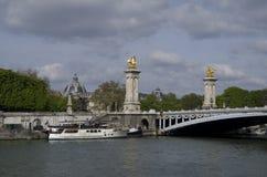 Pont Alexandre III bro arkivbilder