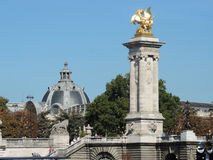 The Pont Alexandre III. Is a deck arch bridge that spans the Seine in Paris, France Royalty Free Stock Photography