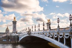 Pont Alexandre III and Les Invalides Royalty Free Stock Image