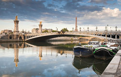 Pont Alexandre III and Eiffel Tower, Paris Royalty Free Stock Image