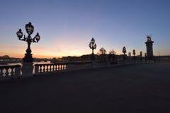 Pont Alexandre III em Paris fotografia de stock
