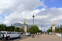 Pont Alexandre III and the Grand Palais in Paris, France Royalty Free Stock Photo