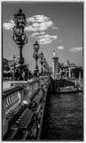 Pont Alexandre III i Paris arkivfoton