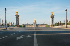Pont Alexandre III and Les Invalides in Paris, France Royalty Free Stock Images